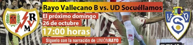 Sigue el Rayo B – Socuéllamos en Unión Rayo