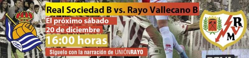 Sigue el Real Sociedad B – Rayo B en Unión Rayo
