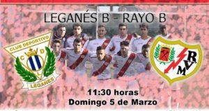 Previa: Leganés B – Rayo B