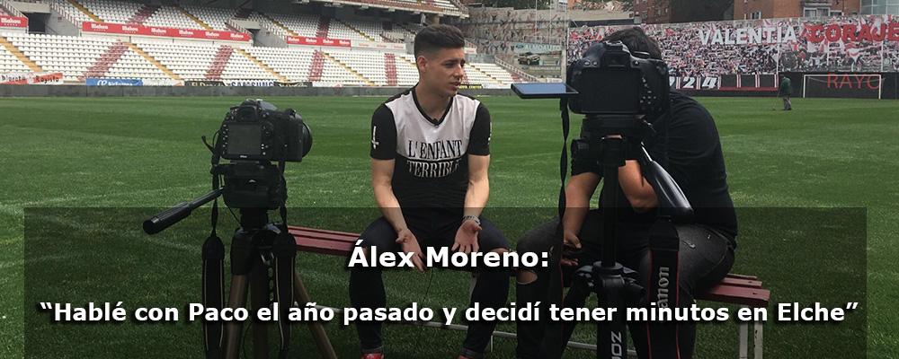 """Álex Moreno: """"Hablé con Paco el año pasado y decidí tener minutos en Elche"""""""