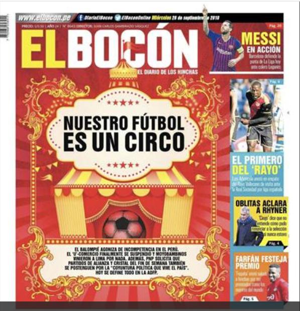 Portada Bocon Peru Unión Rayo