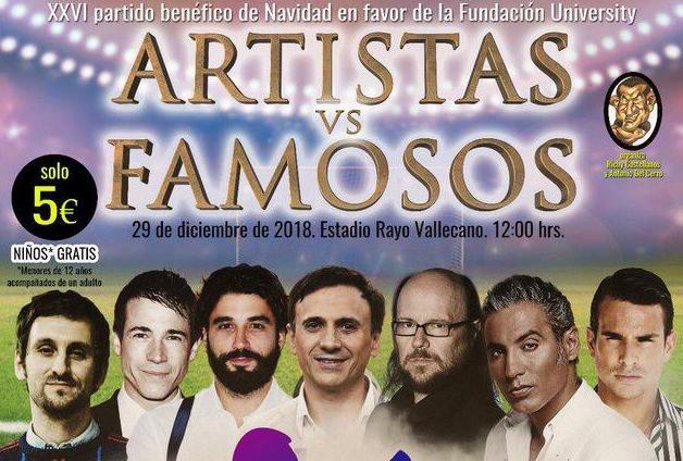 Resultado de imagen de PARTIDO artistas y famosos 2018